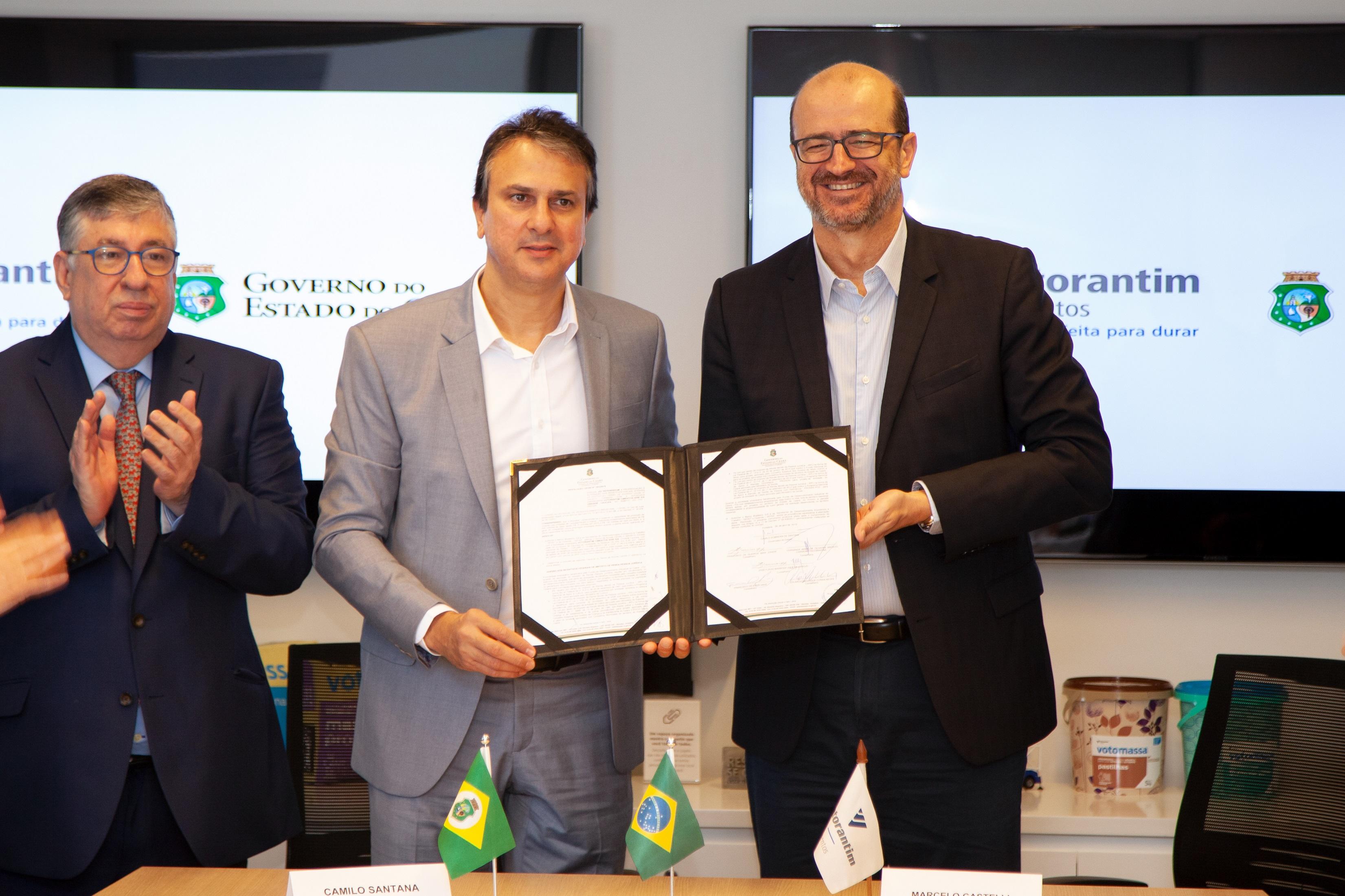 Governador e presidente da Votorantim Cimentos anunciam investimento de R$ 200 milhões para ampliação de fábrica no Pecém