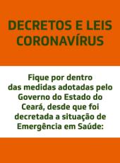 Acesse os Decretos e Leis Estaduais publicados durante a pandemia