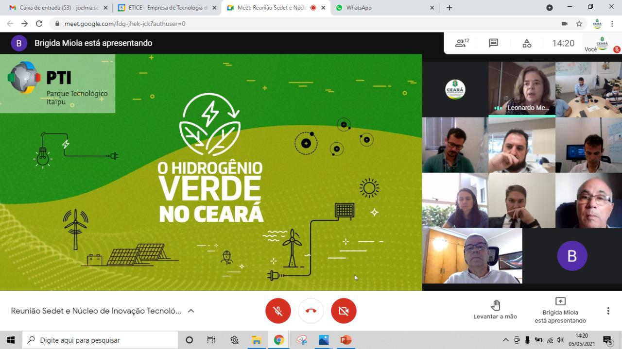 HUB do Hidrogênio Verde do Ceará é apresentado aos técnicos da Fundação Parque Tecnológico de Itaipu (PTI)